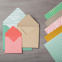 papier enveloppe in color