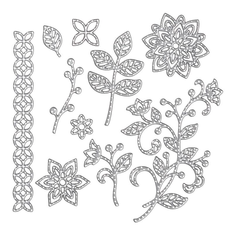 thinlits en fleur