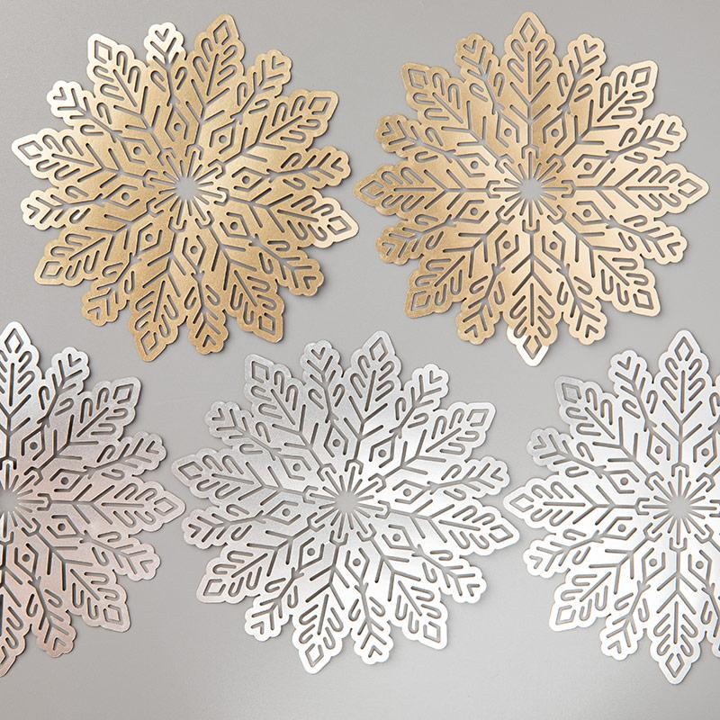 flocons de neige métallisés