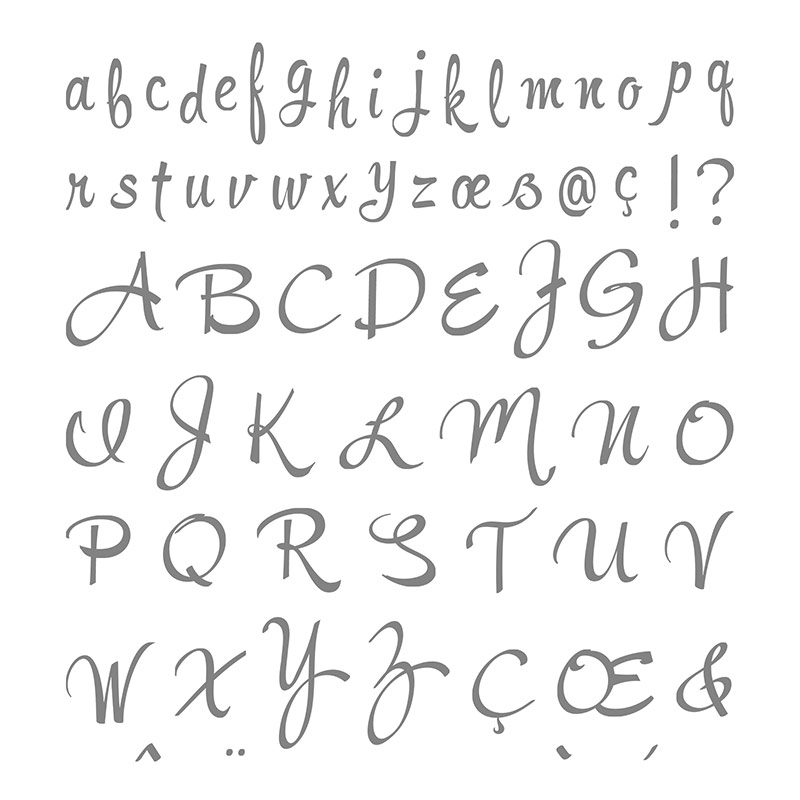 brushwork alphabet